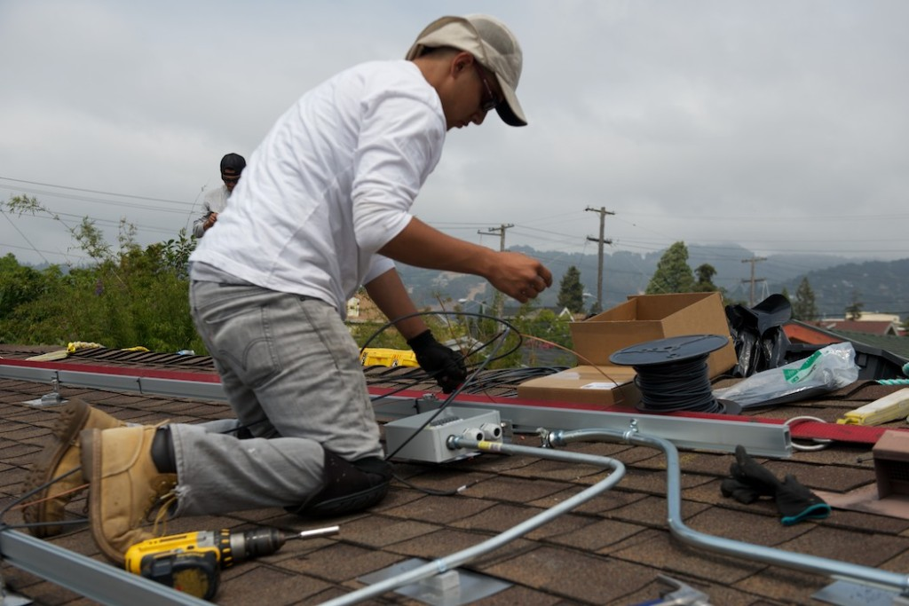Prepping the roof